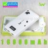 IWO P42S Power bank คุณภาพสูง 16000 mAh มีจอ LCD แถมซองผ้า ลดเหลือ 450 บาท ปกติ 1,650 บาท สำเนา