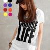 เสื้อยืดแฟชั่นตัวยาว ผ้าเนื้อนุ่ม ลาย Choose Life II สีขาว