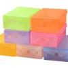 J02**พร้อมส่ง** เซ็ต 8 ชิ้น กล่องรองเท้า พลาสติกใส DIY พับเก็บและวางซ้อนได้ สำหรับไซส์ผู้หญิง สีผสม