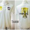 เสื้อโปโล ทีมชาติไทย ลายแชมป์ AFF 4 สมัย สีขาว T44W