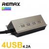 ที่ชาร์จ REMAX 4 USB CHARGER 4.2A ราคา 349 บาท ปกติ 910 บาท