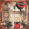 ภาพเมืองลอนดอนย้อนยุค ไม้หนา 1cm ขนาด40*40cm win06