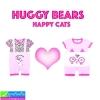 ชุด HUGGY BEARS แมวน่ารัก เซ็ต 2 ตัว ราคา 240 บาท ปกติ 700 บาท