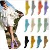 [พิเศษ 3 คู่ 120 ] ถุงเท้าสไตล์เกาหลี ข้อเท้าสีสดมากกว่า 12 สี