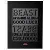 สินค้านักร้องเกาหลี Beast - Mini Album Vol.6 [Good Luck] (Black Ver.) (+ Member Random Lips Card) + Poster in Tube