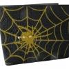 กระเป๋าหนังปลากระเบน ใยแมงมุม 2 พับ สีเหลือง