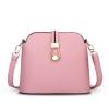 พร้อมส่ง ขายส่งกระเป๋าสะพายข้างผู้หญิง Messenger bag สายคาดล๊อค แฟชั่นยุโรป Sunny-689 สีชมพู 1 ใบ
