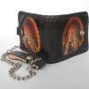 กระเป๋าสตางค์สีดำ ลายอินเดียแดง 2 พับ พร้อมโซ่ Line id : 0853457150