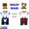ชุด HUGGY BEARS หมีน้อยน่ารัก เซ็ต 2 ตัว ราคา 240 บาท ปกติ 700 บาท