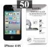 ฟิล์มกระจก iPhone 4/4s Excel แผ่นละ 17 บาท (แพ็ค 50)