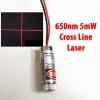 Adjustable Laser Tube 650nm 5mW - CrossLine Laser (แสงตกบนฉากเป็นเส้นกากบาทปรับความหนาเส้นได้)