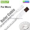 สายชาร์จ Micro USB สายวัด ไม้บรรทัด Golf Ruler Cable GC-16m ราคา 70 บาท ปกติ 175 บาท