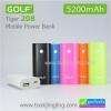 Power Bank Golf 5200 mAh Tiger 208 ลดเหลือ 185 บาท ปกติ 590 บาท