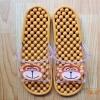 K011-BR2 **พร้อมส่ง** (ปลีก+ส่ง) รองเท้านวดสปา เพื่อสุขภาพ ปุ่มเล็ก ลายลิง สีน้ำตาล