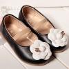 คัชชูติดดอกไม้ ดอกขาว พื้นสีดำไชส์ 26 29