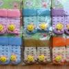 U024-6**พร้อมส่ง**(ปลีก+ส่ง) ถุงเท้าเด็กวัย 1-3 ขวบ ติดหัวสัตว์ พับข้อ มีเสียงกุ๊งกิ๊ง และมีกันลื่น เนื้อดี งานนำเข้า (Made in China)