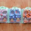 U028-2**พร้อมส่ง** (ปลีก+ส่ง) รองเท้าเด็ก วัย 2-3 ขวบ ลายลิง Pual Frank พื้นมีกันลื่น เนื้อดี งานนำเข้า ( Made in China)