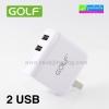 ที่ชาร์จ GOLF 2 USB GF-U201 AC/DC Adapter (2.1A) ราคา 150 บาท ปกติ 375 บาท