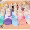 S342 **พร้อมส่ง** (ปลีก+ส่ง) ถุงเท้าแฟชั่นเกาหลี ข้อยาว คละ 5 สี มี 10 คู่/แพ็ค เนื้อดี งานนำเข้า(Made in China)