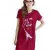 เสื้อยืดแฟชั่น ตัวยาว / แซกสั้น ผ้านุ่ม กระเป๋าข้าง ลาย Paris สีชมพูบานเย็น