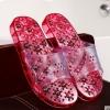 K022-RD **พร้อมส่ง** (ปลีก+ส่ง) รองเท้านวดสปา เพื่อสุขภาพ ปุ่มแม่เหล็ก สีแดง ส่งคู่ละ 190 บ.