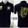 เสื้อโปโล ทีมชาติไทย ลายช้างศึกทรงเครื่อง สีดำ T4BB
