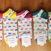 S556 **พร้อมส่ง** (ปลีก+ส่ง) ถุงเท้าแฟชั่น ข้อตาตุ่ม คละ 5 สี เนื้อดี งานนำเข้า มี 10 คู่ต่อแพ็ค