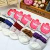 S360**พร้อมส่ง** (ปลีก+ส่ง) ถุงเท้าแฟชั่นเกาหลี ข้อยาว คละ 5 สี มี 12 คู่ต่อแพ็ค เนื้อดี งานนำเข้า(Made in China)