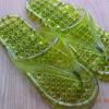 K013-DGR **พร้อมส่ง** (ปลีก+ส่ง) รองเท้านวดสปา เพื่อสุขภาพ ปุ่มเล็ก (ใส) หูหนีบ สีเขียวขี้ม้า ส่งคู่ละ 80 บ.