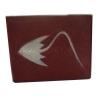 กระเป๋าสตางค์ปลากระเบน รูปด้านหน้าเป็นปลากระเบน เต็มตัว LLine id : 0853457150