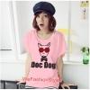 เสื้อยืดแฟชั่น ผ้านุ่ม ลาย Doc Dog (Size M:36 นิ้ว) สีชมพูอ่อน
