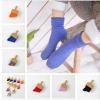 S523-1**พร้อมส่ง** (ปลีก+ส่ง) ถุงเท้าข้อยาว แฟชั่นเกาหลี คละสี มี 10 คู่ต่อแพ็ค เนื้อดี งานนำเข้า(Made in China)