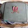 พร้อมส่ง KB-628-2 สีเขียว กระเป๋าสะพายไซร์มินิน่ารักสายสะพายโซ่แต่งอะไหล่ Glitter-rabbit หนังช้าง เนื้อสวยมาก
