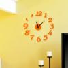 นาฬิกาติดผนัง DIY สีดำ ขนาด 40 ซม CD111 สีส้ม