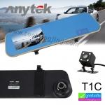 กล้องติดรถยนต์ Anytek T1C ติดกระจกมองหลัง 2 กล้อง หน้า-หลัง 1,130 บาท ปกติ 4,050 บาท