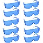 แว่นตากันน้ำ แพ็ค10ชิ้น สีน้ำเงิน