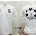เสื้อโปโล ลิเวอร์พูล สีขาว LFW