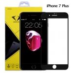 ฟิล์มกระจกนิรภัย iPhone 7 Plus แบบเต็มจอ สีดำ ยี่ห้อ Diamond