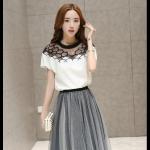 แฟชั่นเกาหลี set เสื้อและกระโปรง สวยน่ารักมากๆ