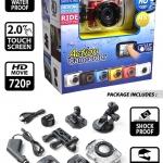 กล้องติดหมวก Action Camera HD 720P สีแดง