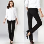 กางเกงคนท้องขายาวใส่ทำงาน มีสายปรับที่เอว - LP1701