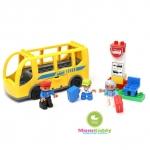 ตัวต่อเลโก้ รถบัสสีเหลือง 16 ชิ้น