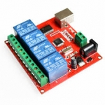 4 Channel 12V USB Relay Board Module Controller (USB Controlled Module)