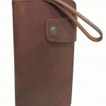 กระเป๋าสตางค์ยาว หนังวัวแท้ สีน้ำตาลอ่อน แบบด้าน เรียบง่าย ทันสมัย คุ้มค่า ด้วยช่องใส่บัตรต่างๆหลายช่อง