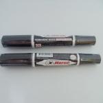 ปากกาเคมีตรมม้า 2 หัวสีดำ แพ็คโหล