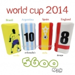 แบตสำรอง Power bank ebai มีจอ LCD EVA-5600 mAh World Cup Series