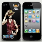 one piece iphone4/4s case pvc