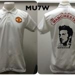 เสื้อโปโล แมนเชสเตอร์ ยูไนเต็ด ลาย เดวิด เบคแคม (David Beckham) สีขาว MU7W