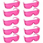 แว่นตากันน้ำ แพ็ค10ชิ้น สีชมพู