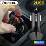 ที่ชาร์จในรถ REMAX 2 USB ALIENS LED RCC208 ราคา 169 บาท ปกติ 390 บาท